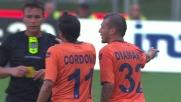 Diamanti entra duro su Radu: doppio giallo e Brescia in dieci all'Olimpico