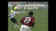 Dida respinge l'assalto della Juventus e il sinistro di Nedved