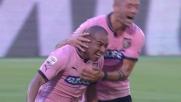 Rios esplode la sua gioia segnando un goal contro il Cagliari