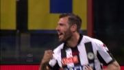 Domizzi come un falco sul secondo palo segna il goal del raddoppio dell'Udinese