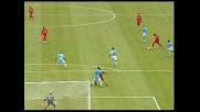 Donati cerca il goal contro la Lazio ma la palla colpisce un compagno e termina sul fondo