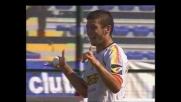 Donati segna il goal del vantaggio del Messina a Cagliari