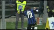 Doni realizza il goal con un'incornata vincente: Atalanta in vantaggio sulla Lazio