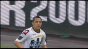 Doppio passo e cross di Sanchez che sfida Zanetti