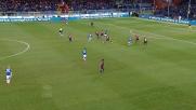 Il tiro di Obiang finisce alto: poteva essere il goal vittoria nel derby di Genova!