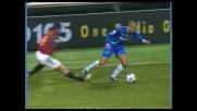 Dribbling e tunnel di Almiron contro il Milan