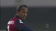 La punizione dai 30 metri di Bruno Alves manca la porta del Chievo