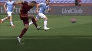 Dzeko è lesto e preciso per il goal del raddoppio contro la Lazio