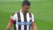 Grandissimo goal su punizione di Di Natale contro il Cagliari