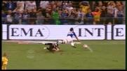 Handanovic stende Pazzini in uscita e provoca un rigore per la Sampdoria