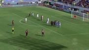Borriello pennella su punizione il tris del Cagliari, Atalanta ko