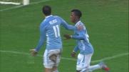 Keita realizza il goal della sicurezza per la Lazio contro il Chievo