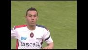 Ragatzu segna il goal che dimezza lo svantaggio del Cagliari a Firenze