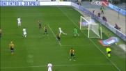 Icardi segna il goal del vantaggio in casa dell'Hellas Verona