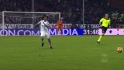 Brutta entrata di Cuadrado contro il Genoa