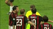 Favalli atterra da dietro Del Piero: il Milan perde un uomo per il secondo giallo al terzino