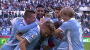 Il goal di Lulic sblocca il match dell'Olimpico fra Lazio e Sassuolo