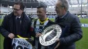 Al Friuli Antonio Di Natale riceve il premio per il record di presenze