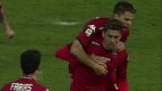 Avelar segna dal dischetto il goal del pari tra Cagliari e Udinese