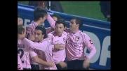 Gonzalez segna il goal del vantaggio del Palermo
