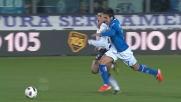 Eder è troppo veloce per Cordoba, è rigore per il Brescia contro l'Inter