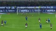 Eder spiazza Donnarumma dal dischetto del rigore e sigla il goal della bandiera per la Sampdoria