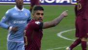 Emerson Palmieri contrasta Felipe Anderson nel derby capitolino