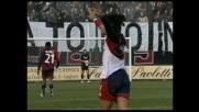 Esposito brucia la difesa del Lecce, goal del Cagliari