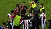 Espulsione e accenno di rissa per Pinilla in Cagliari-Udinese