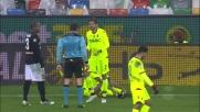 Espulso Pulgar per doppia ammonizione in Udinese-Bologna