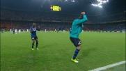 Eto'o raddoppia il vantaggio dell'Inter realizzando il goal dagli 11 metri
