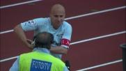 Rocchi controllo e tiro: è il goal del raddoppio della Lazio