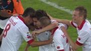 Goal su rigore di Bentivoglio in Bari-Roma