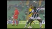 Obodo porta a spasso due giocatori del Siena con un dribbling ubriacante