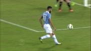 Candreva entra in area e tira, il palo salva il Torino