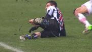 Fallo duro e cartellino rosso di Heurtaux contro il Palermo