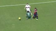 Farias firma il goal che porta in vantaggio il Cagliari contro il Genoa
