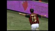 Favalli realizza il suo primo goal con la maglia del Milan trafiggendo Balli