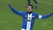 Favoloso goal di testa di Caracciolo, Brescia avanti sul Lecce