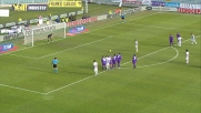 Calaiò accorcia le distanze sulla Fiorentina segnando un goal su rigore