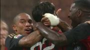 Kakà realizza contro la Lazio il goal del vantaggio con un destro magico all'incrocio dei pali
