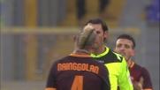 Dzeko esagera con le proteste e l'arbitro estrae il cartellino rosso