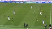 Felipe Anderson a porta vuota segna il goal del 3-0 contro il Verona