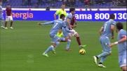 Felipe Anderson segna contro la Roma
