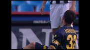 Felipe in tackle atterra Marchionni in area: rigore per il Parma