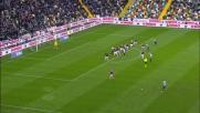 Felipe svetta di testa ma colpisce il palo in Udinese-Bologna