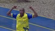 Fernandes di testa segna il goal del momentaneo pareggio tra Chievo e Milan
