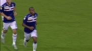 Fernando segna il quinto goal della Sampdoria con una punizione magistrale