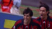 Filippo Inzaghi apre le marcature nel derby Milan-Inter