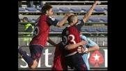 Fini, destro incrociato per il goal del Cagliari